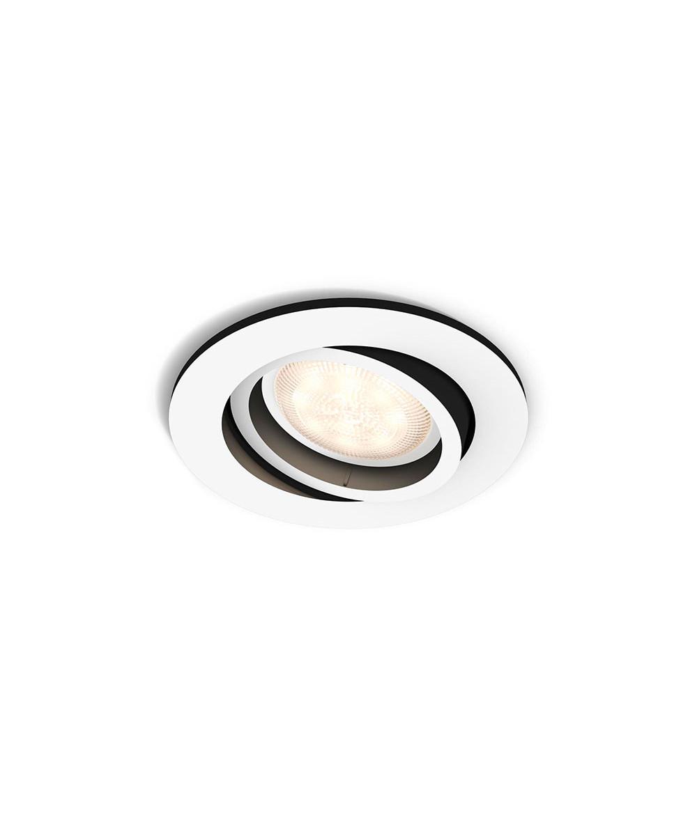 Milliskin loftlampe hvid
