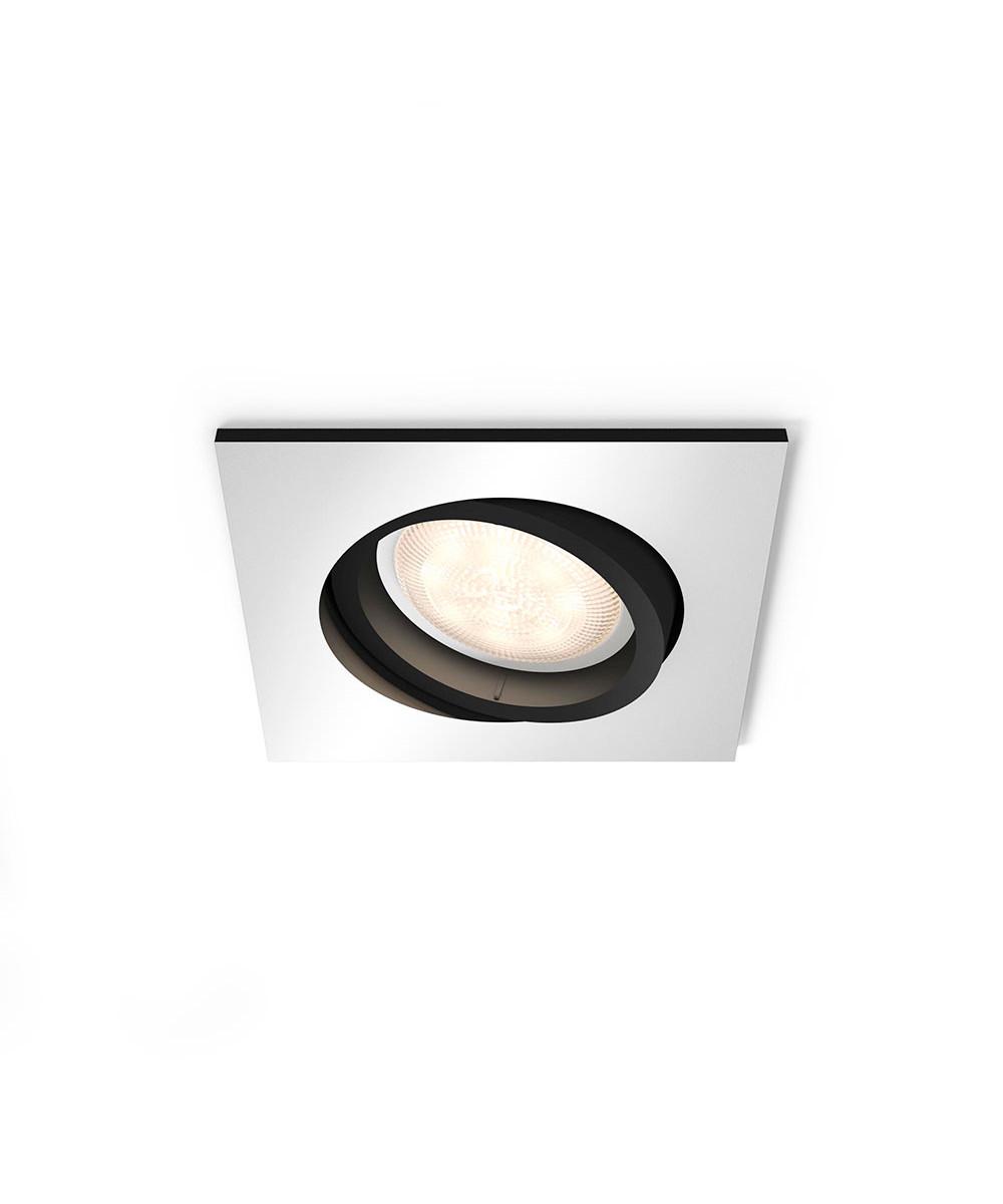 Milliskin square loftlampe m/switch alu
