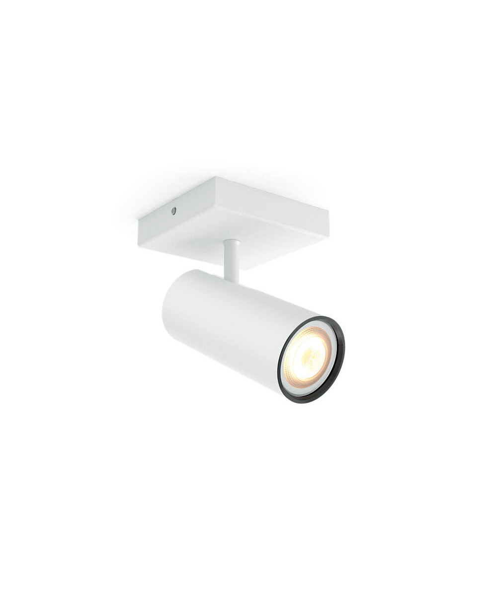 Buratto loftlampe single spot hvid