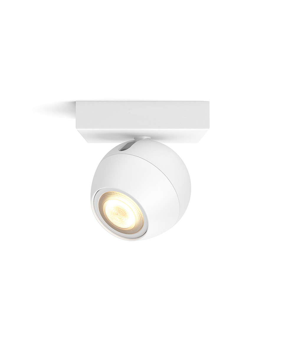 Buckram loftlampe single spot hvid