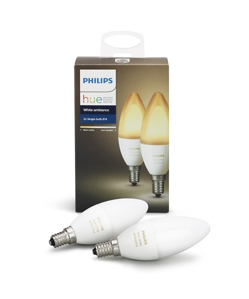 philips hue ambiance 6w e14 2 pak philips. Black Bedroom Furniture Sets. Home Design Ideas