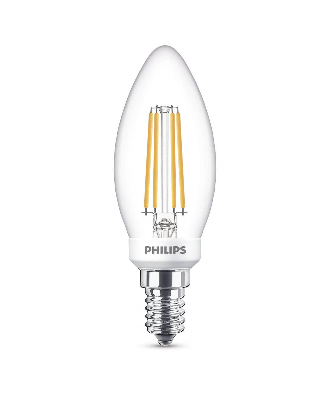 Pære LED 5W Glas Kerte (470lm) Dæmpbar E14 - Philips