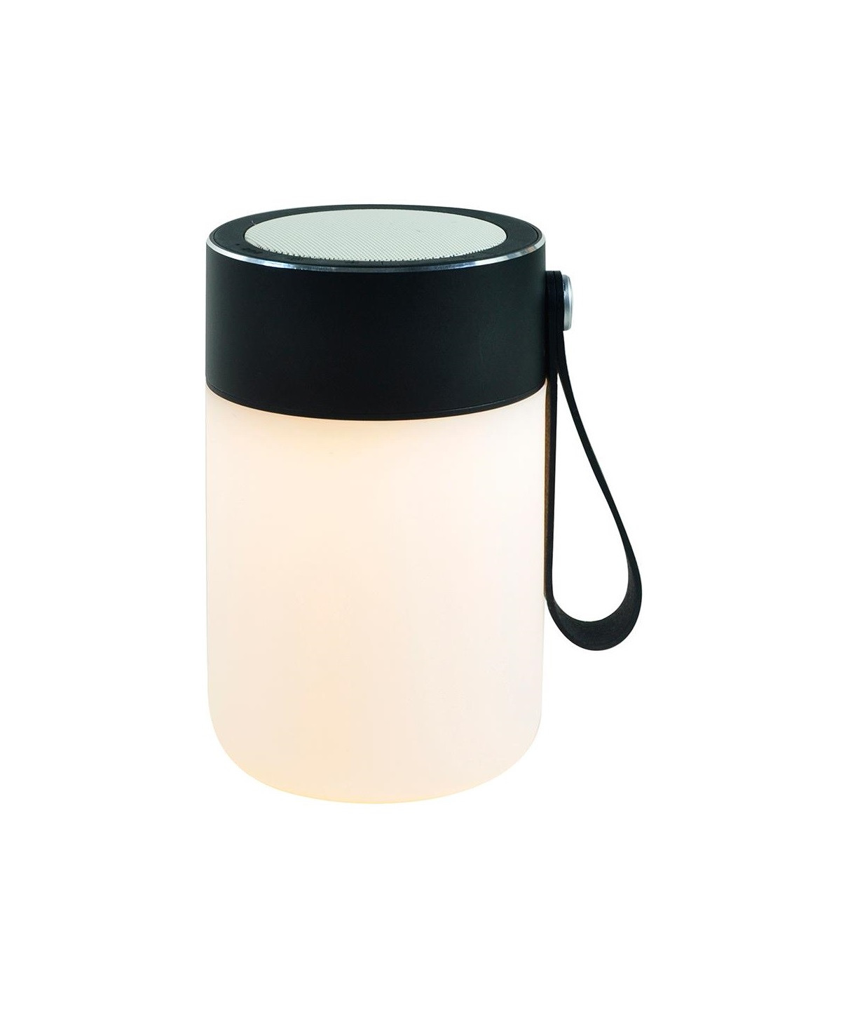 Led sound jar black