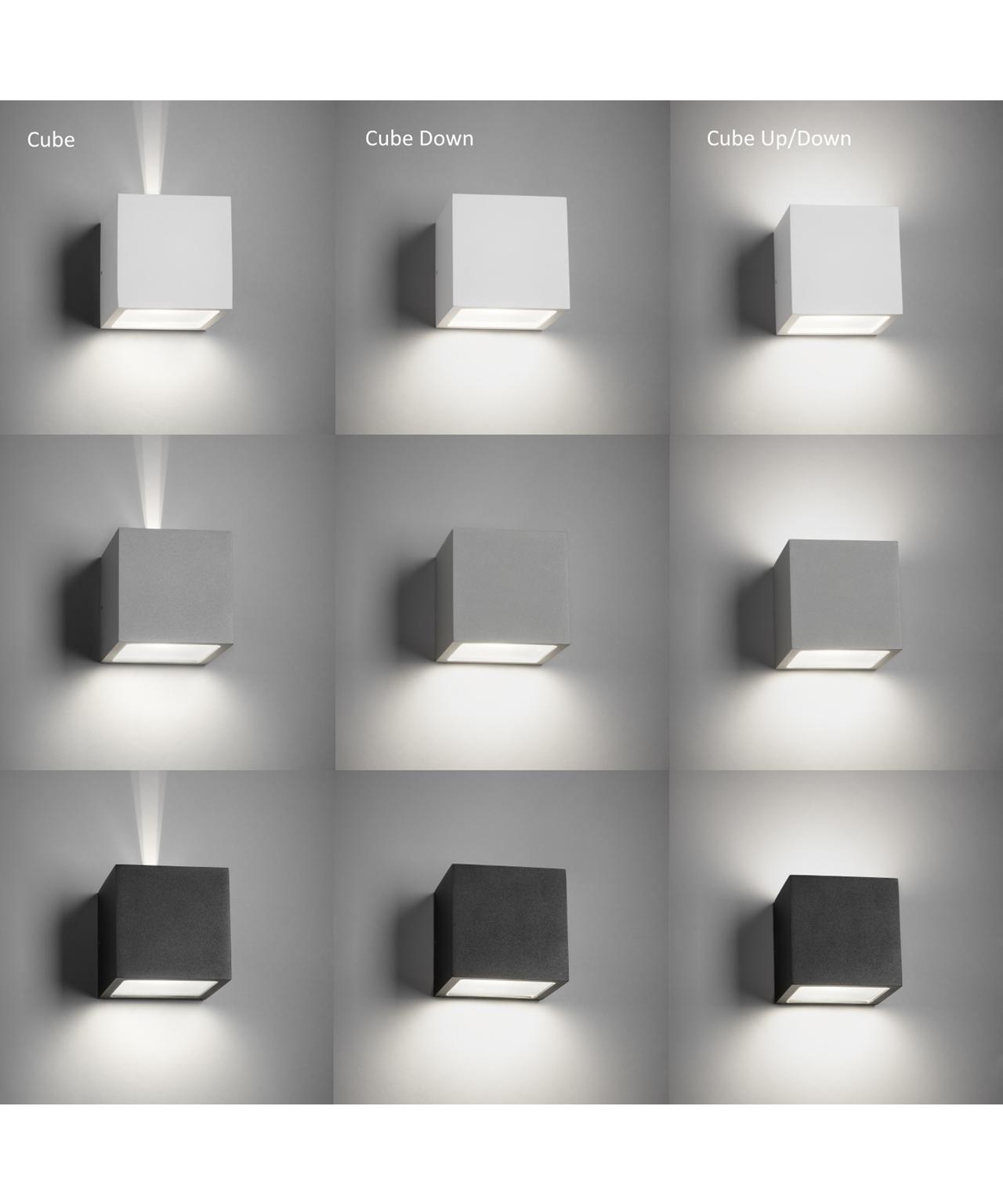 Cube Udendørs Væglampe - LIGHT-POINT