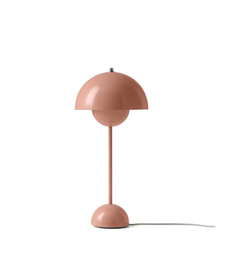 Flowerpot vp3 bordlampe beige red