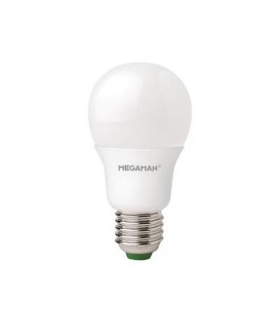 Producent MegamanKoncept LED sparepære. Den har 470lm, hvilket svarer til ca. 40-60W. Den har et varmt lys med 2800 kelvin og en RA værdi på 80, hvilket betyder at den gengiver farverne i rummet optimalt. Hvis du har det lidt svært med det, med pærer, kommer der her en lille kort forklaring om de vigtigste ting, du skal være opmærksom på. I dag bliver lysstyrken målt på lumen i stedet for watt. Du kan nogenlunde gå ud fra nedenstående. 15W = 140 lumen 25W = 250 lumen 40W = 470 lumen 60W = 800 lumen 75W = 1050 lumen 100W = 1520 lumen Derudover kan man også se på en pære, at der er oplyst en RA eller CRI værdi. Det er lysets evne til at gengive farver og det vurderes på en skala fra 0-100 RA. 100 RA giver den bedste farvegengivelse og det er det, man får fra dagslys. Til et almindeligt hjem, skal man vælge pærer med en RA værdi på mere end 80. Der vil også være oplyst en kelvingrad. Dette er lysets farve. En pære med en kelvingrad på 2.700 - 3.000 har et varmt lys. 4.000-4.5000 giver et