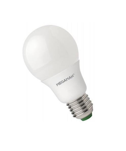 Producent MegamanKoncept LED Sparepære. Den har 810lm, hvilket svarer til ca. 60-75W. Den har et varmt lys med 2800 kelvin og en RA værdi på 80. Hvis du har det lidt svært med det, med pærer, kommer der her en lille kort forklaring om de vigtigste ting, du skal være opmærksom på. I dag bliver lysstyrken målt på lumen i stedet for watt. Du kan nogenlunde gå ud fra nedenstående. 15W = 140 lumen 25W = 250 lumen 40W = 470 lumen 60W = 800 lumen 75W = 1050 lumen 100W = 1520 lumen Derudover kan man også se på en pære, at der er oplyst en RA eller CRI værdi. Det er lysets evne til at gengive farver og det vurderes på en skala fra 0-100 RA. 100 RA giver den bedste farvegengivelse og det er det, man får fra dagslys. Til et almindeligt hjem, skal man vælge pærer med en RA værdi på mere end 80. Der vil også være oplyst en kelvingrad. Dette er lysets farve. En pære med en kelvingrad på 2.700 - 3.000 har et varmt lys. 4.000-4.5000 giver et neutral til køligt lys og er den mest optimale lysfarve at a