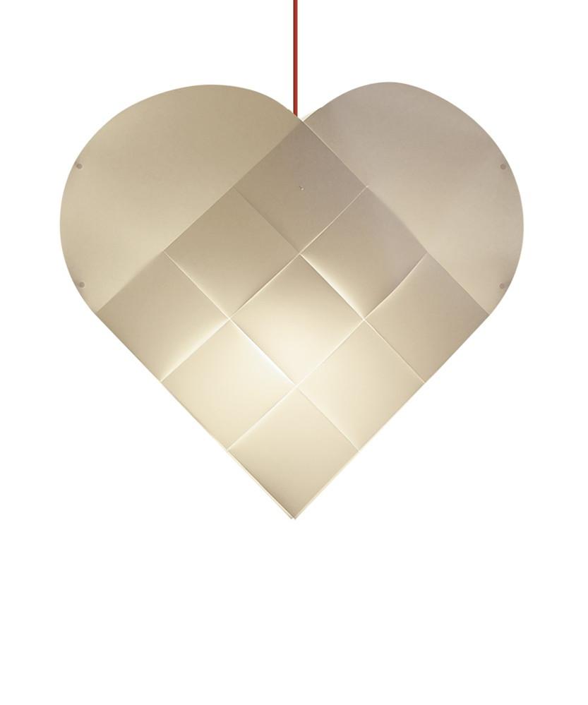 Le klint hjerte x-large m/rød ledning