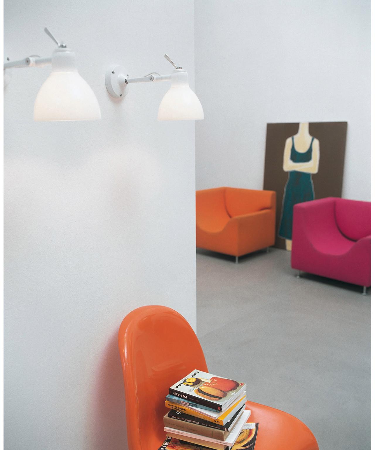 Image of Luxy H0 Væglampe/Loftlampe Hvid/Blank Hvid - Rotaliana (7609826)