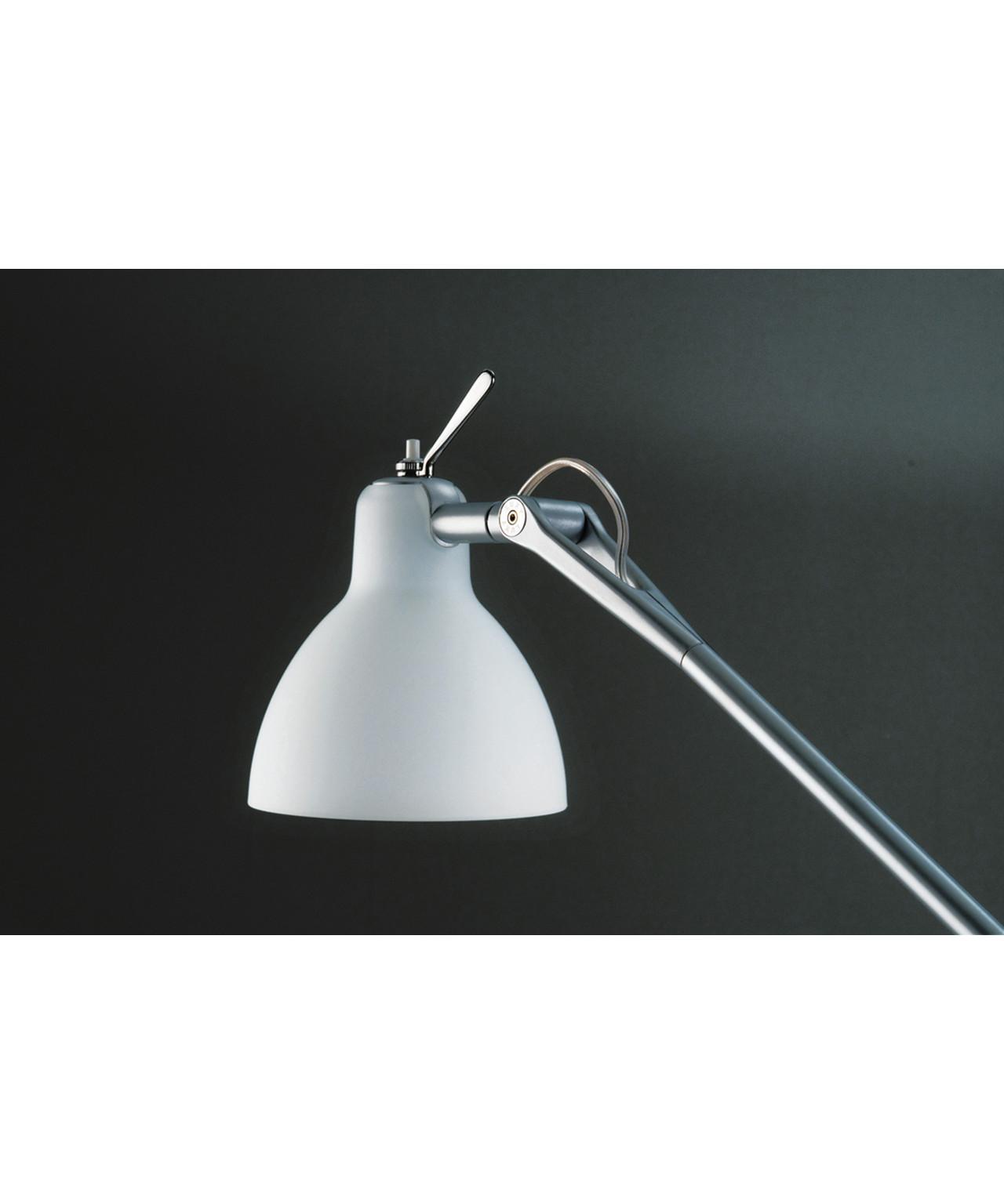 Luxy t1 bordlampe alu/blank hvid