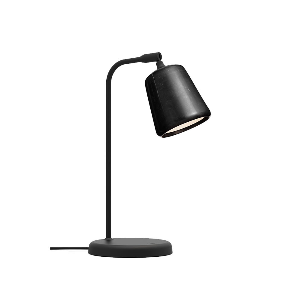 Image of   Material Bordlampe Black Marble - New Works