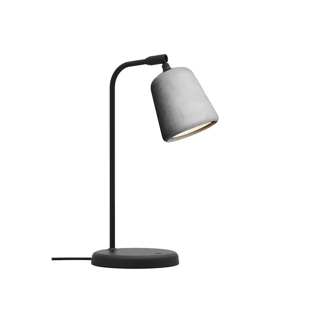 Image of   Material Bordlampe Light Grey Concrete - New Works