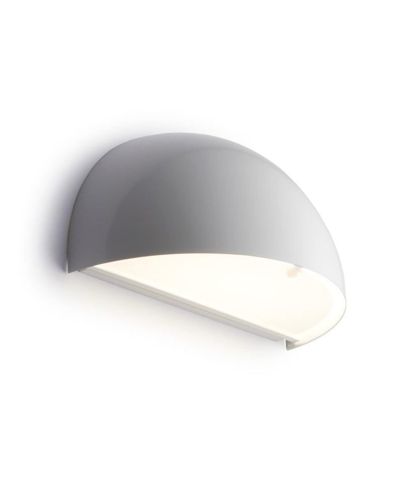 Rørhat Væglampe 40W E14 Hvid - LIGHT-POINT