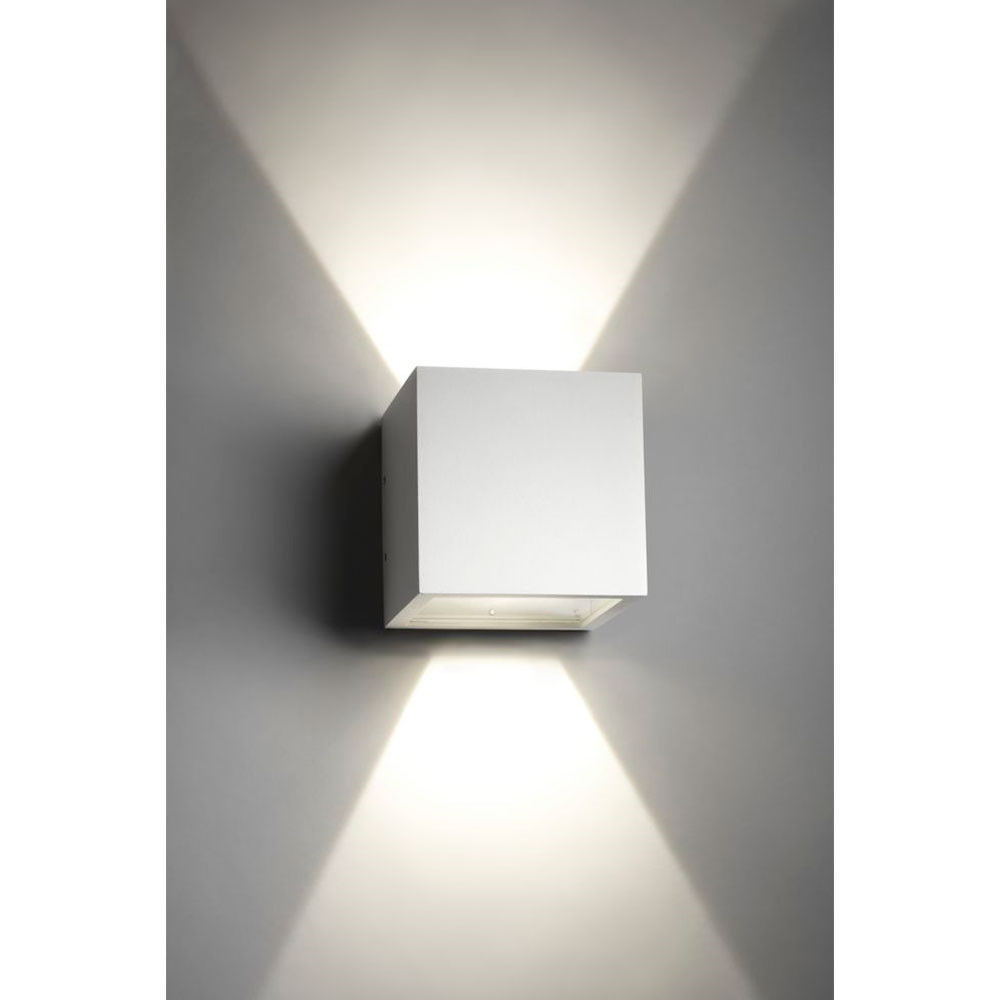 Cube XL LED Udendørs Væglampe Up/Down Hvid - LIGHT-POINT