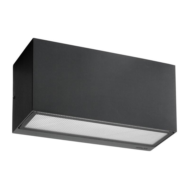 Asker led up/down udendørs væglampe 22,5 cm sort