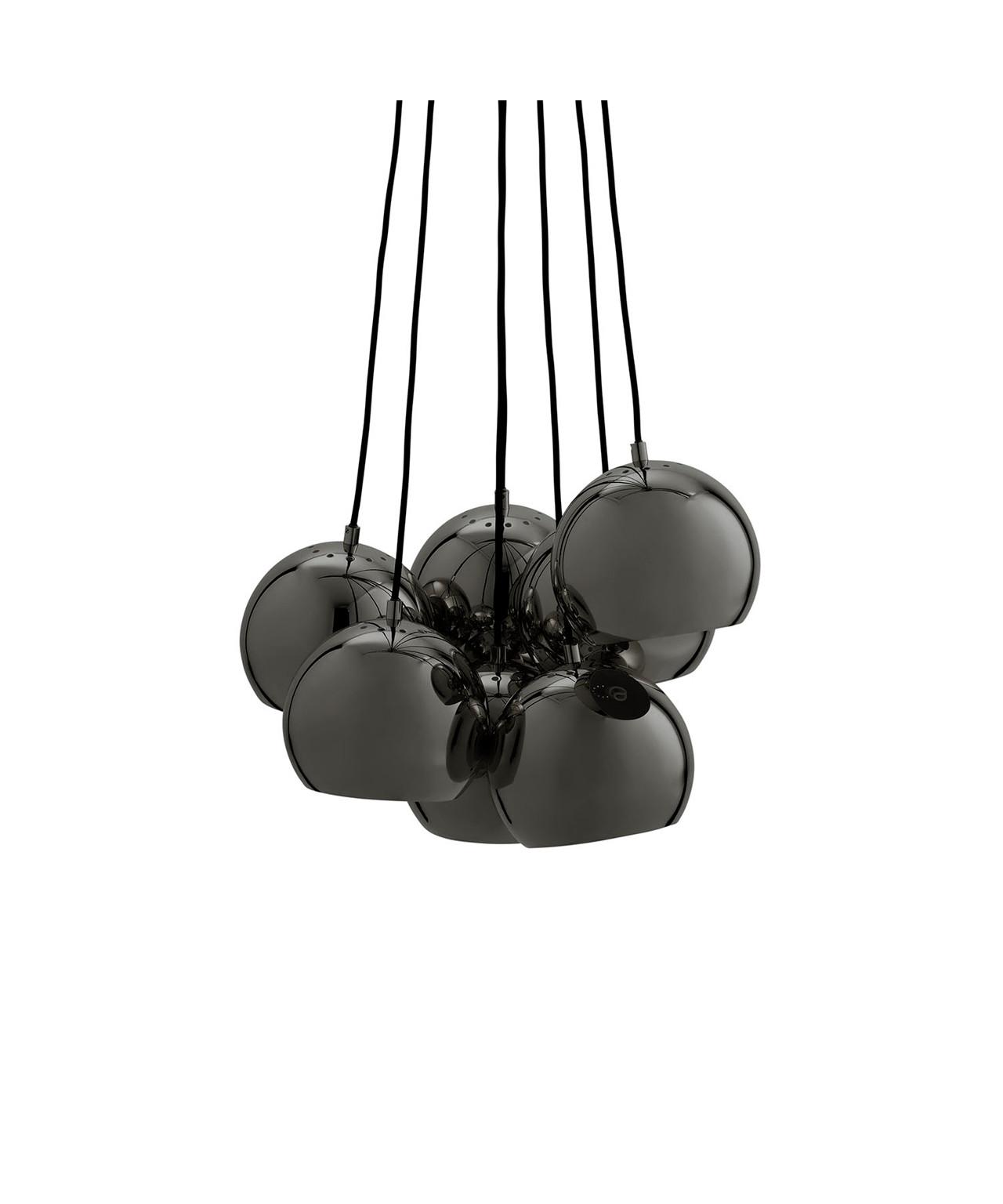 Ball Multi Pendel Mat Sort Krom - Frandsen
