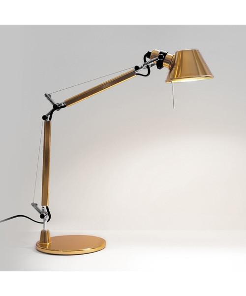 tolomeo micro tischleuchte gold artemide. Black Bedroom Furniture Sets. Home Design Ideas